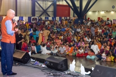 Anupam Kher addressing Janmashtami audience in Houston