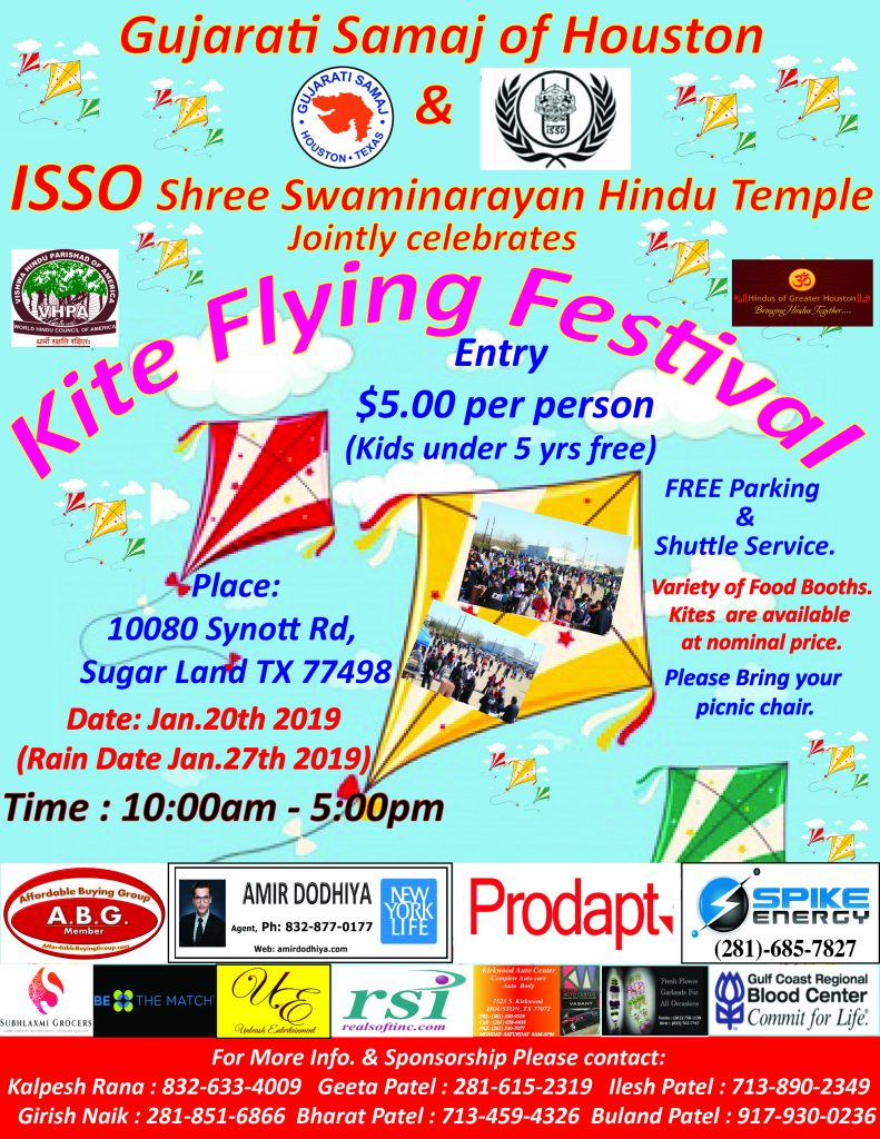 Gujarati Samaj Kite Flying Festival 2019