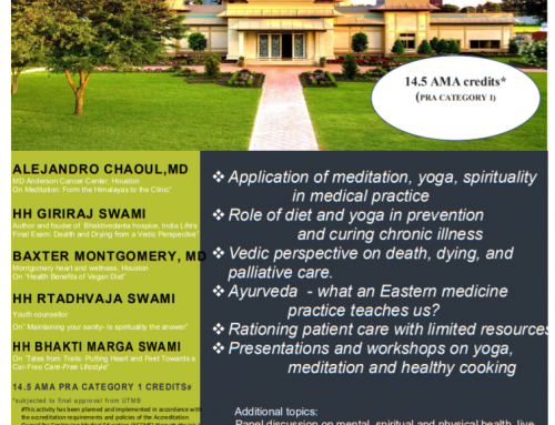 The Bhaktivedanta Medical Association holding 5th annual conference in Houston Jan 18-21.