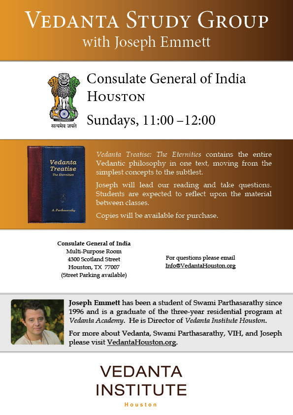 Vedanta Study Group with Joseph Emmett