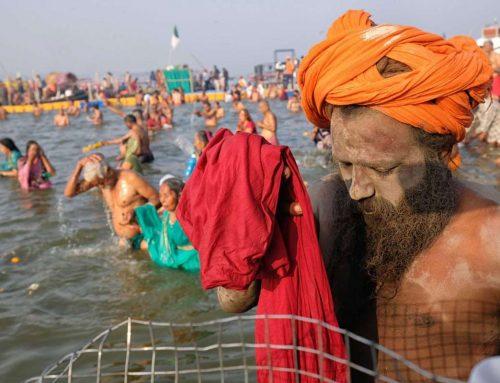 Hindu faithful wash away their impurities during Kumbh Mela festival