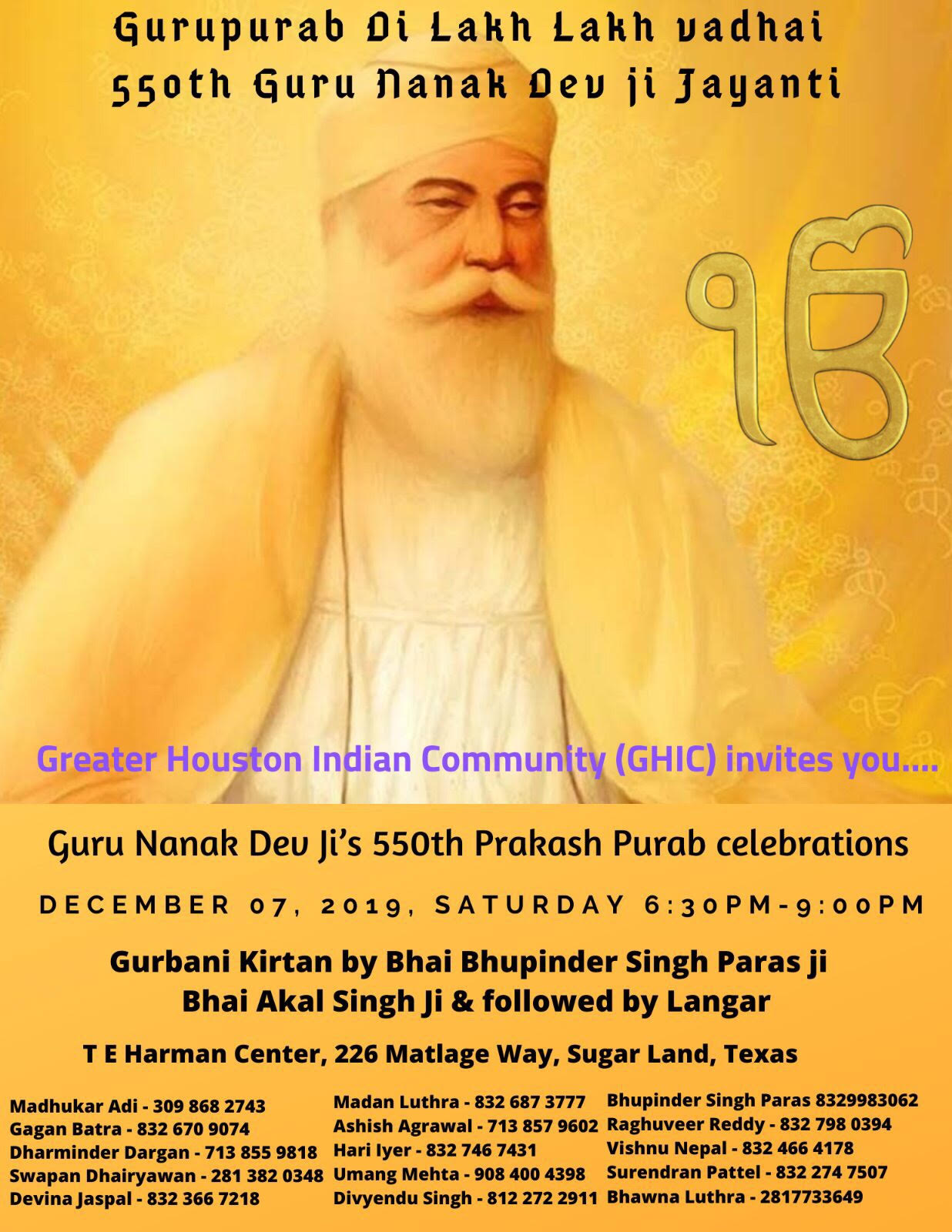 Guru Nanak Dev ji's 550th Prakash Purab Celebrations
