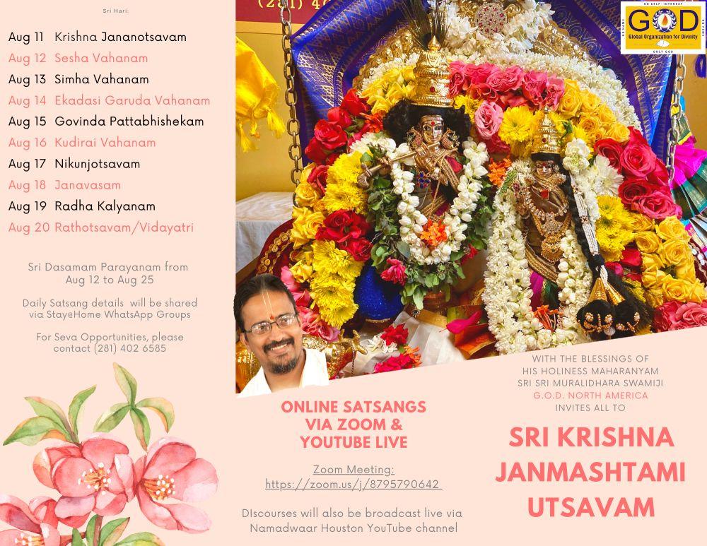 Sri Krishna Janmashtami Utsavam